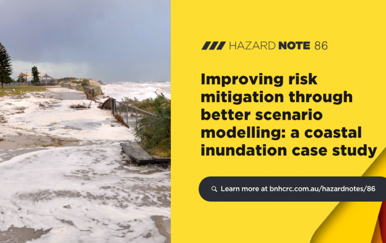 Hazard Note 86 – Improving risk mitigation through better scenario modelling (UNHaRMED)