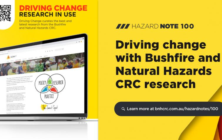 Driving change with Bushfire and Natural Hazards CRC research