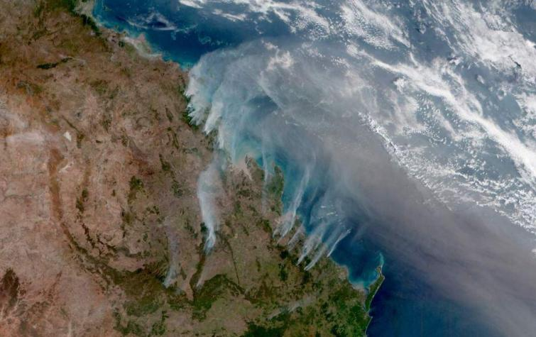 Satellite imagery of the Queensland bushfires.