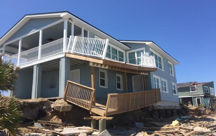Storm surge damage at Ponte Vedra Florida from Hurricane Irma. Photo by Daniel Smith, Cyclone Testing Station.