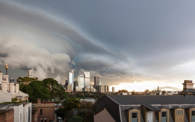 Sydney storm front. Photo: cksydney (Flickr)