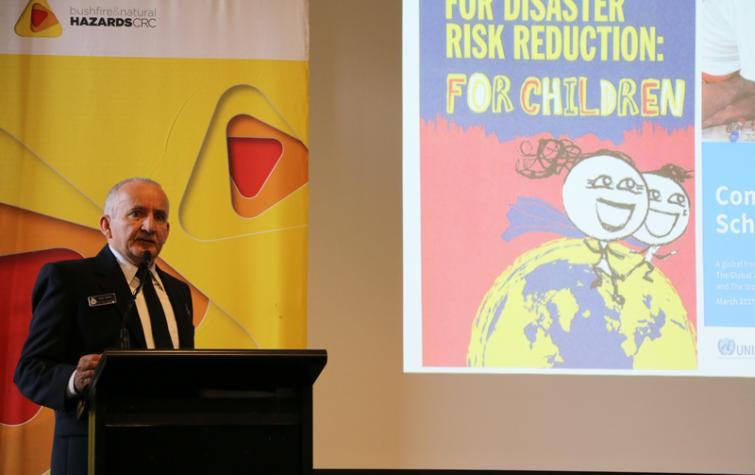 Tony Jarrett from the NSW RFS at the 2017 International Day for Disaster Reduction.