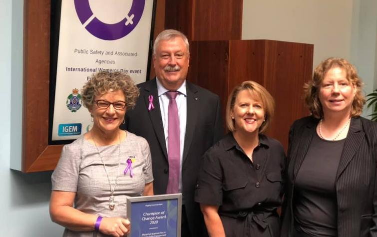 (left to right) Dr Barbara Ryan, Alistair Dawson, A/Prof Kim Johnston, Prof Maureen Taylor