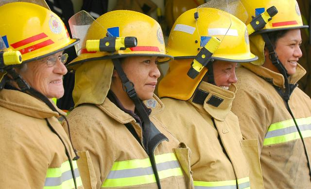 Rural and urban female volunteers at Fire and Emergency New Zealand. Photo: FENZ.