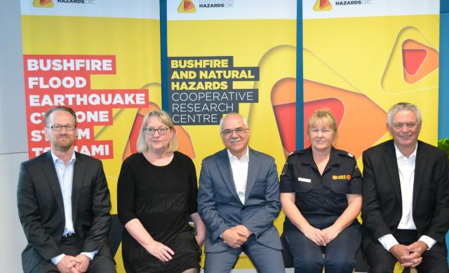 Panel members at International Day for Disaster Reduction 2018.