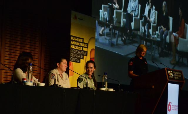Left to right - Dr Mika Peace, Allison Donovan, Erica Lind and Bronnie Mackintosh from the 'Women in Fire' panel.