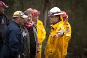 RFS volunteer. Photo: Damien Ford NSW RFS