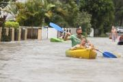 Flooding in Brisbane after ex-Tropical Cyclone Oswald in January 2013. Shutterstock.com