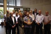 CRC board members with book authors Jeremy Russell-Smith, Andrews Edwards and local Independent MP Gerry Wood.
