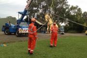 NSWSES large animal rescue training at Agnes Banks. Photo by Penny Burns