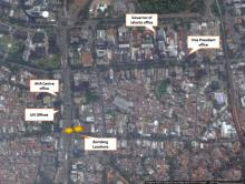 Location of the bombing site close to important buildings.