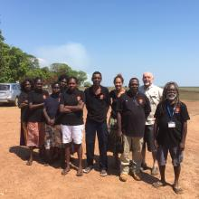 ARPNet researchers with Steve Sutton in Gunbalanya