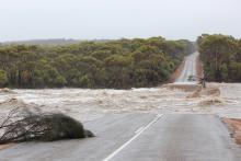 A flood wipes out a bridge in southern WA, February 2017. Photo: Dana Fairhead