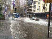 Flooding in the Sydney CBD, 5 June 2016. Photo: Brian Dewey, Flickr