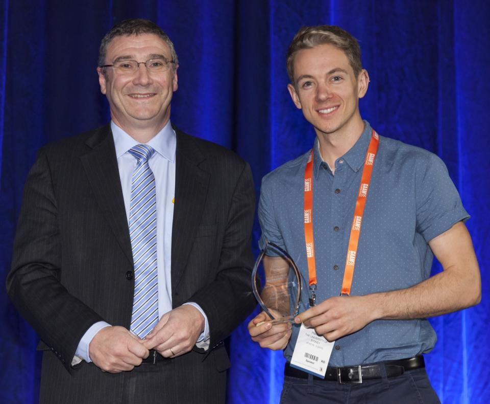 Richard Thornton presents Billy Haworth with the Special Recognition Award.