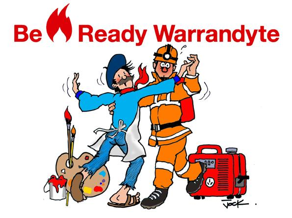 A cartoon developed to promote the Be Ready Warrandyte project