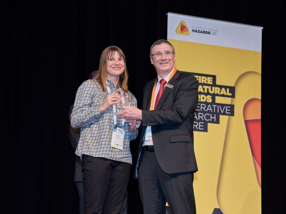 Dr Briony Towers was recognised as an early career researcher at the CRC.