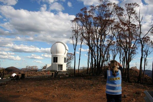 Researchers visited the Siding Spring Observatory to gain important insights after the Coonabarabran bushfire.