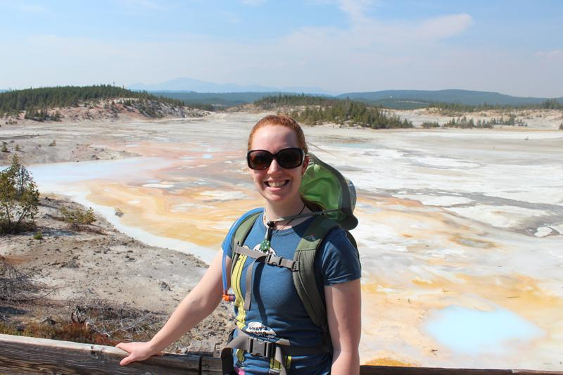 Emma Singh at Porcelain Basin, Norris Geyser Basin, Yellowstone National Park.