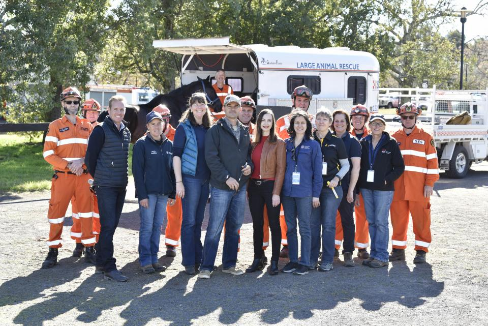 Dr Taylor with members of the Hawkesbury-Nepean Floodplain strategy team and NSW SES at the Horse Owner Emergency Preparedness Open Day 2019