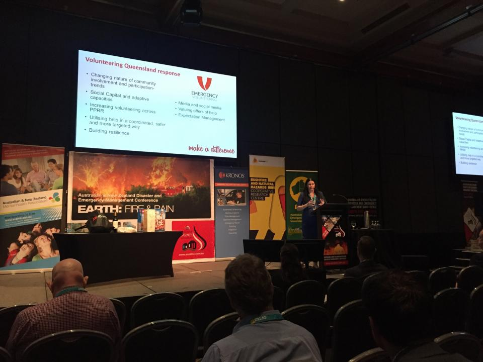End-user Julie Molloy (Volunteering Queensland) at the 2015 ANZDEMC.
