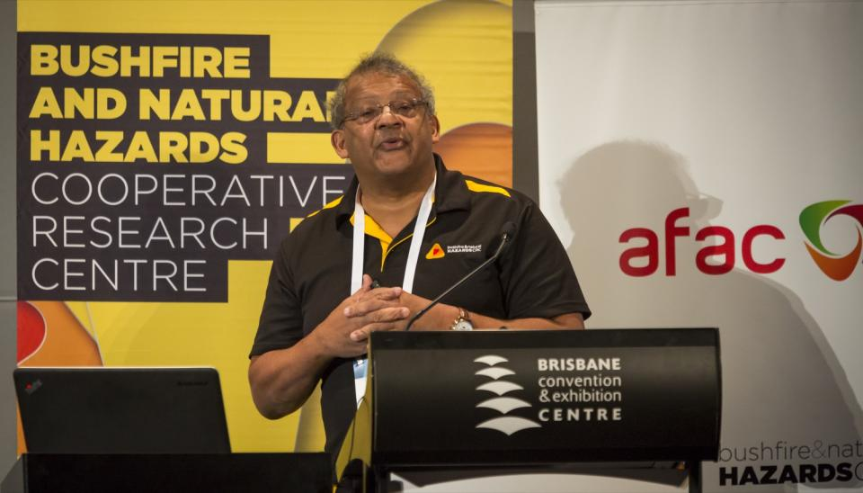 Prof Charitha Pattiaratchi speaks at the 2016 conference.