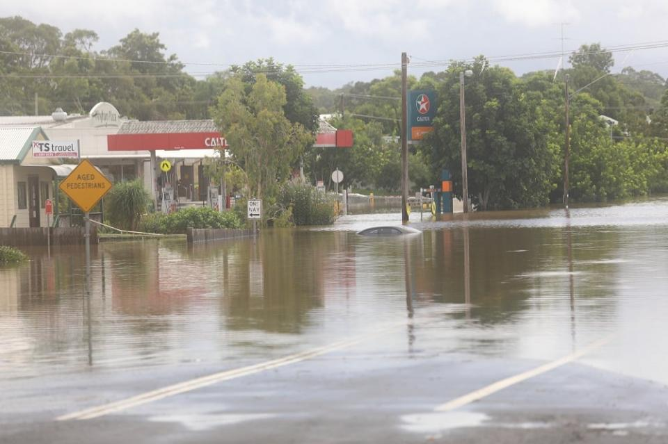 Wingham CBD flood, March 2021. Photo: Mark Anning