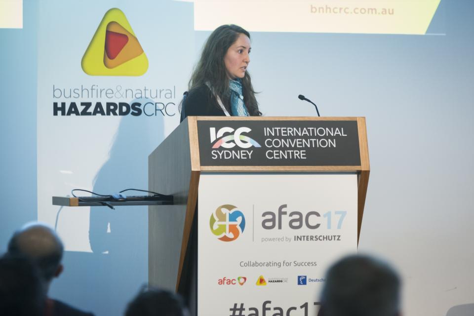 Dr Veronique Florec talks at AFAC17.