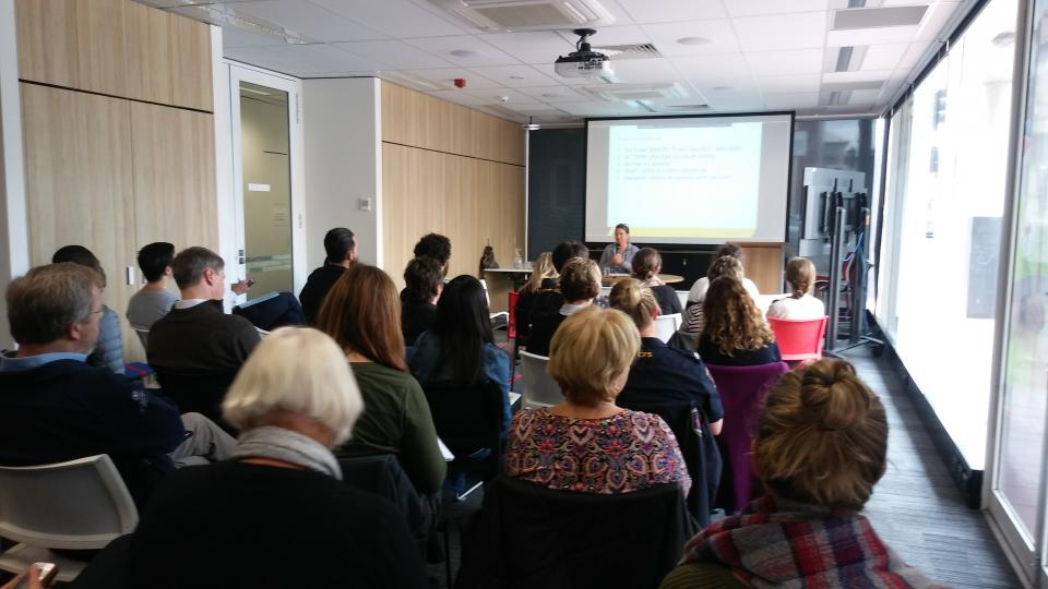Dr Jessica Weir presenting at the event.