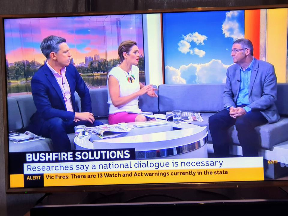 Dr Richard Thornton on ABC TV Breakfast