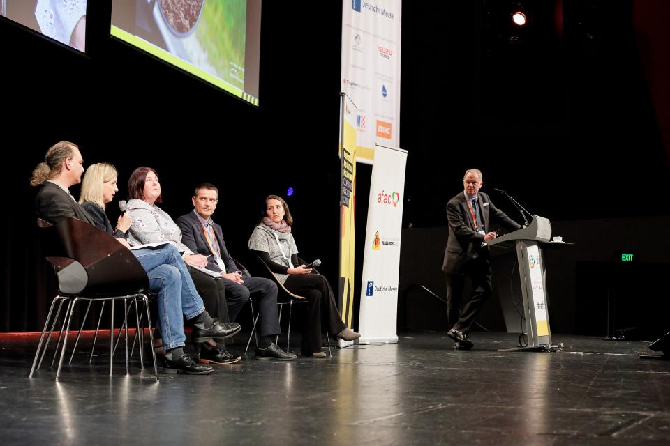 CRC researchers and partners panel at AFAC18