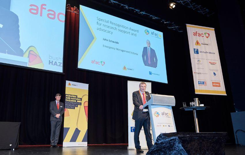 Researchers recognised for their research across a range of natural hazards science at AFAC18 powered by INTERSHUTZ.