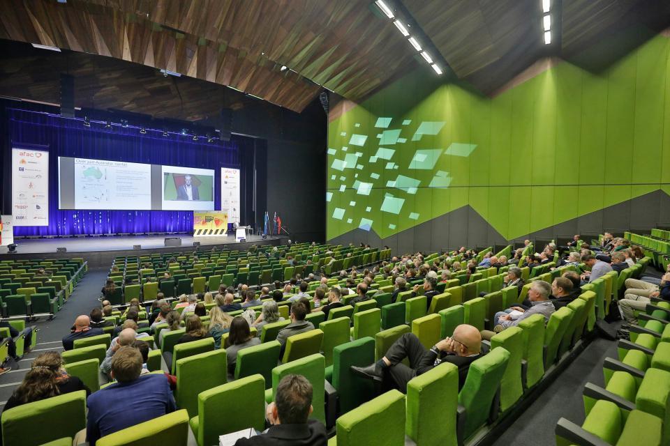 Delegates at AFAC19, Melbourne.