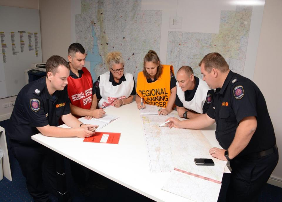 Regional coordination team. Photo: SA Country Fire Service
