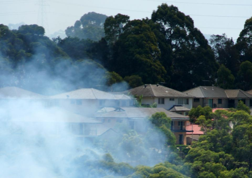 Houses exposed to fire risk near Belrose NSW. Photo: Anthony Clark NSW RFS.