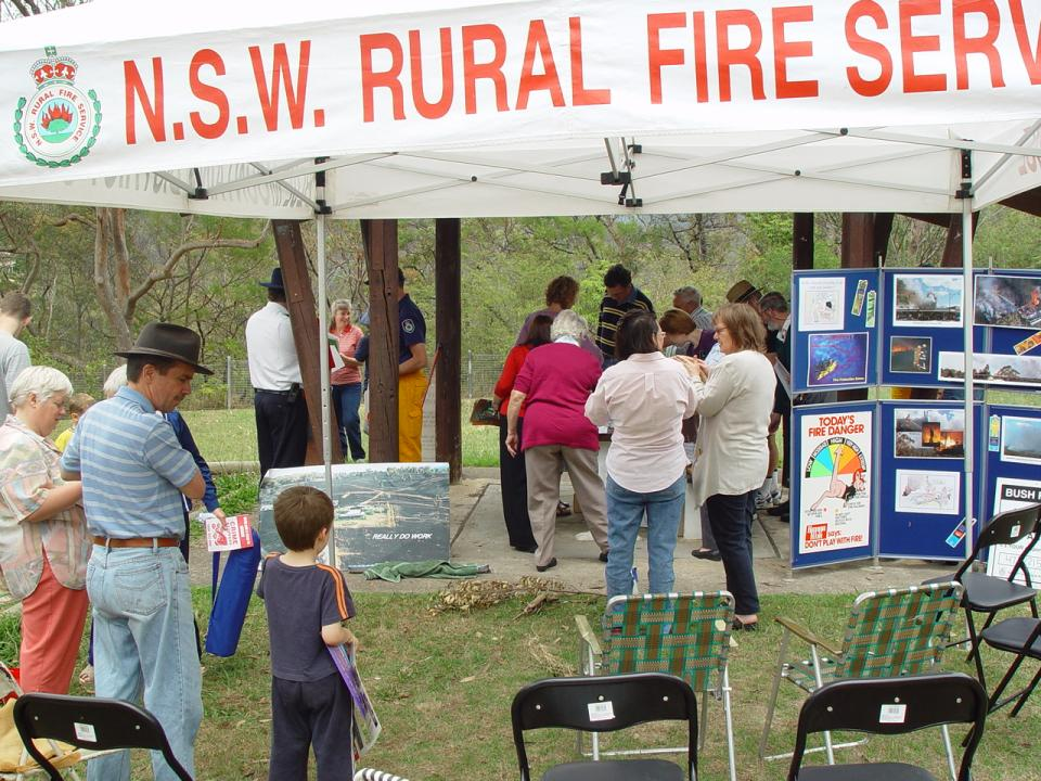 Bushfire preparedness community event. Photo credit: NSW Rural Fire Service.