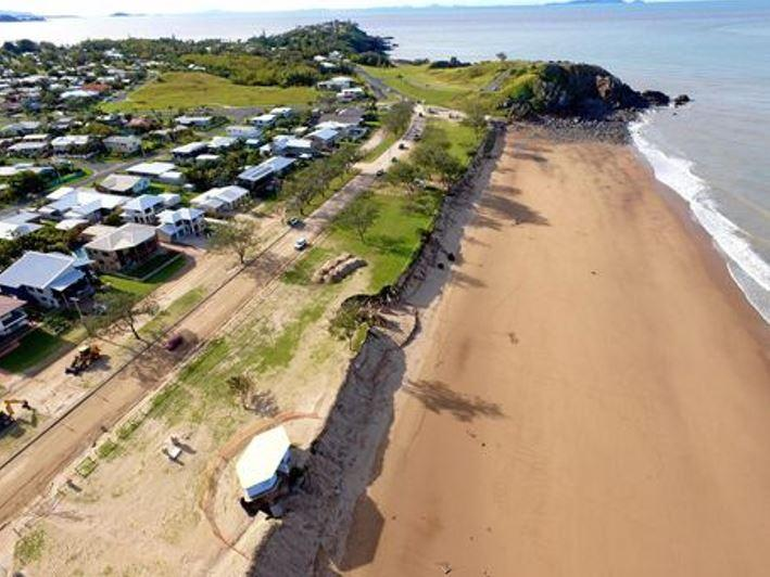 Drone vision over Lamberts Beach after Cyclone Debbie. Photo: Michael Kennedy
