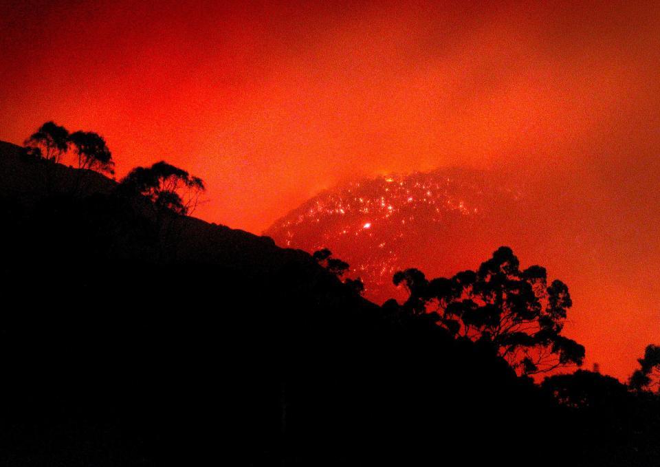 Fire in the landscape. Photo credit: CFA.