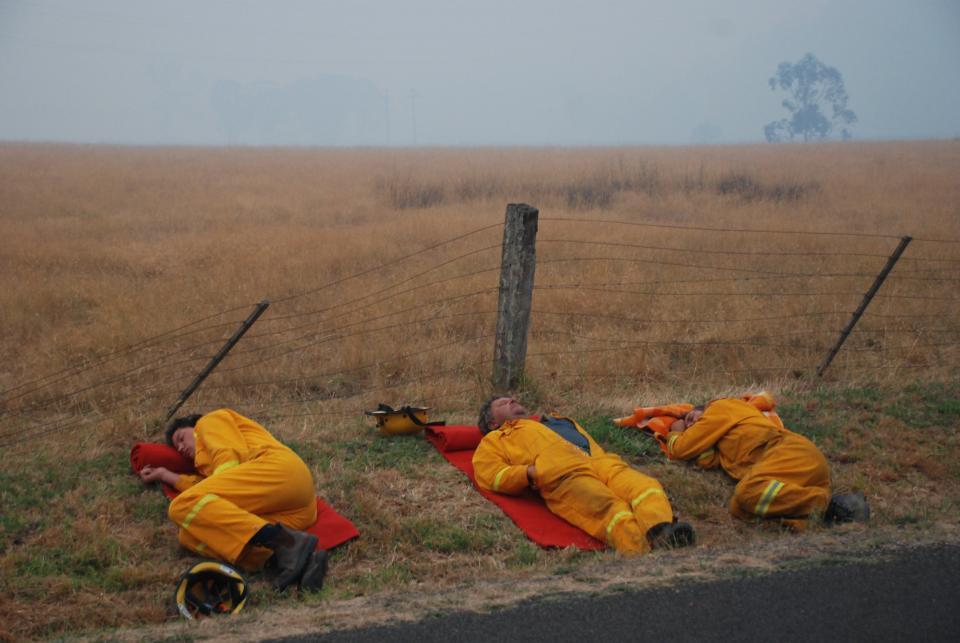On-call CFA members. Photo: CFA