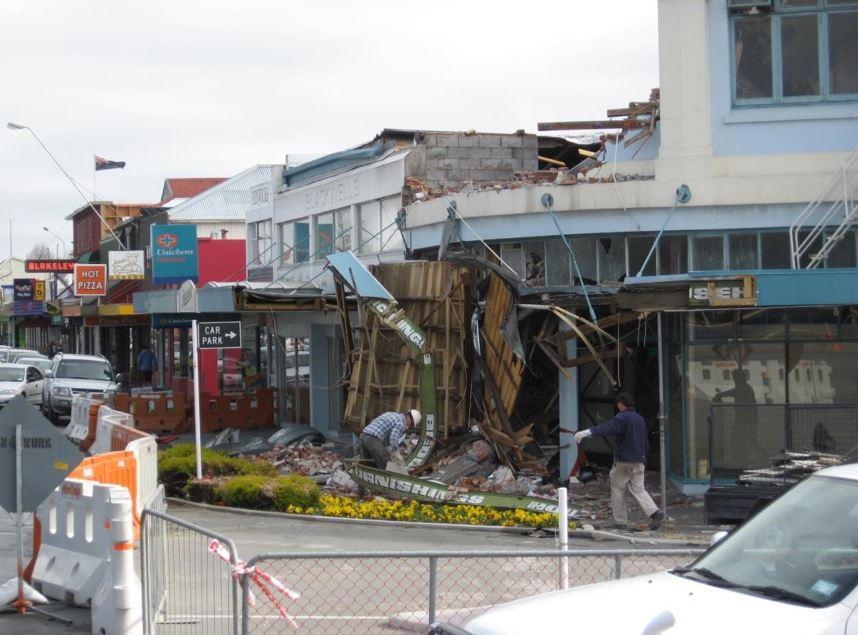 Christchurch after 4 September 2010 Darfield Earthquake. Photo: Geoscience Australia