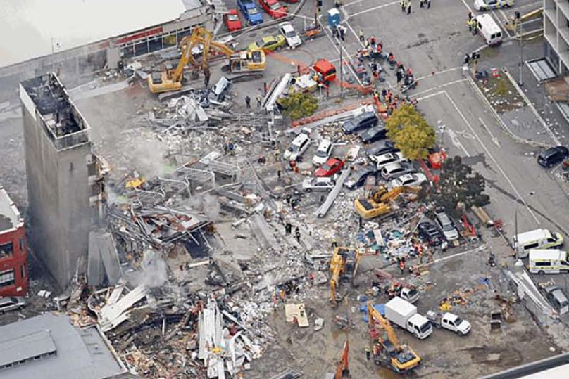 Building wreckage.