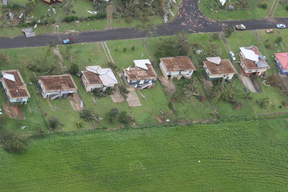Cyclone damage in Queensland 2009