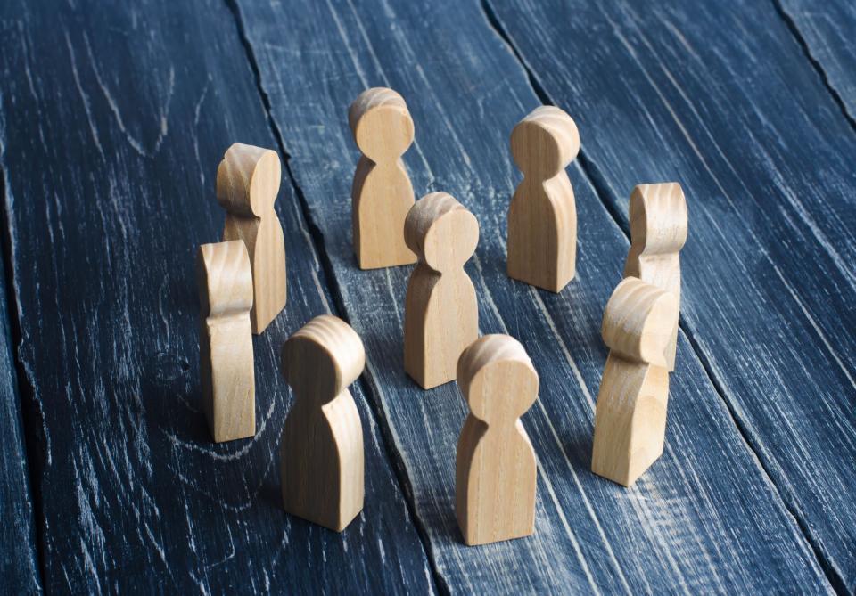 Woodruff, C. Unity and Diversity in Hand Print Relief Community Artwork. Photo: Shutterstock.