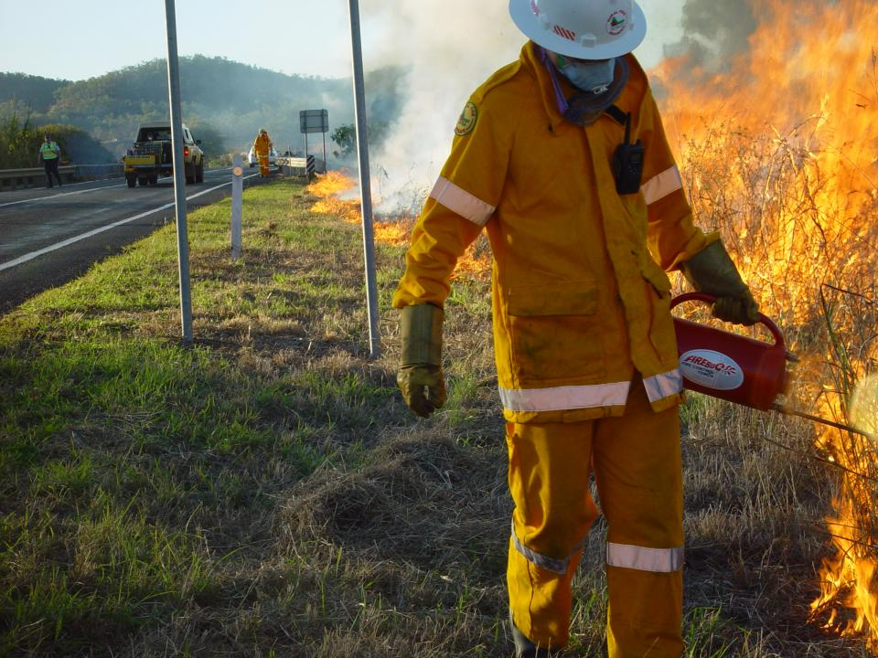 Prescribed burning in Queensland. Photo: QRFS.