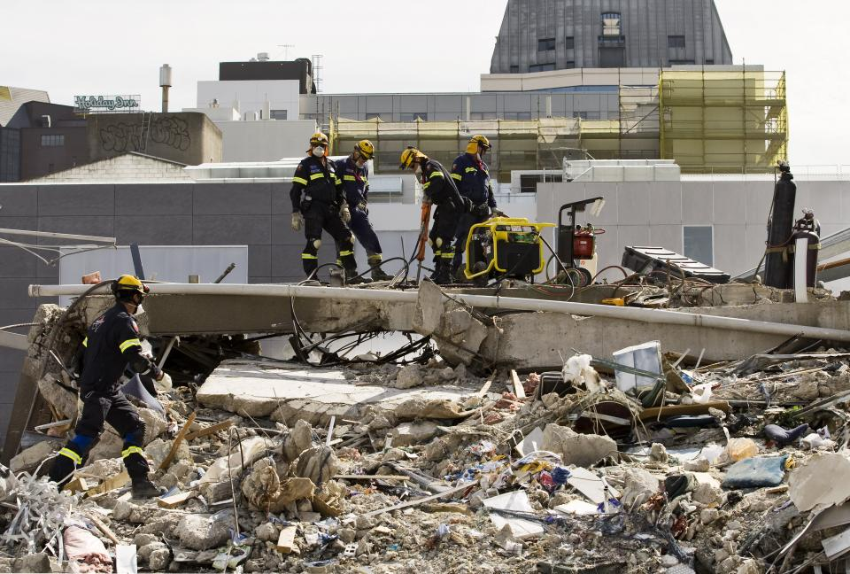 Christchurch earthquake 2011. Photo credit: Jo Johnson NZFS.