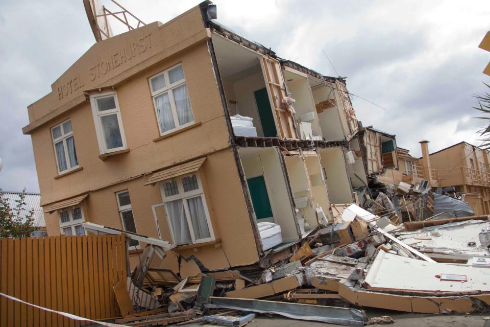 Earthquake damage. Photo credit: John McCombe.