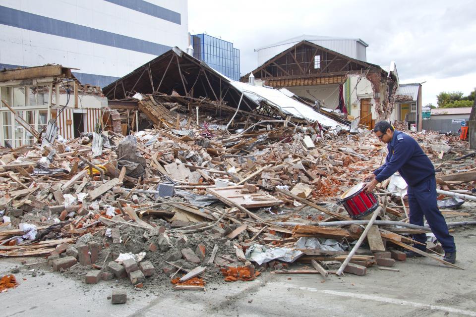 Earthquake damage in Christchurch. Photo: John McCombe