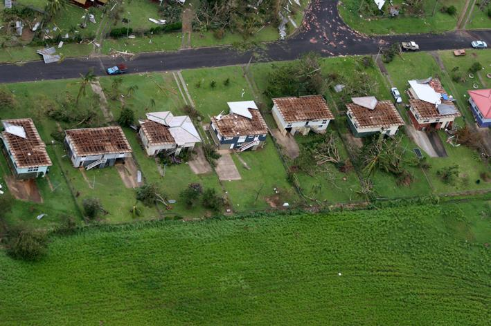 Cyclone damage in Queensland.