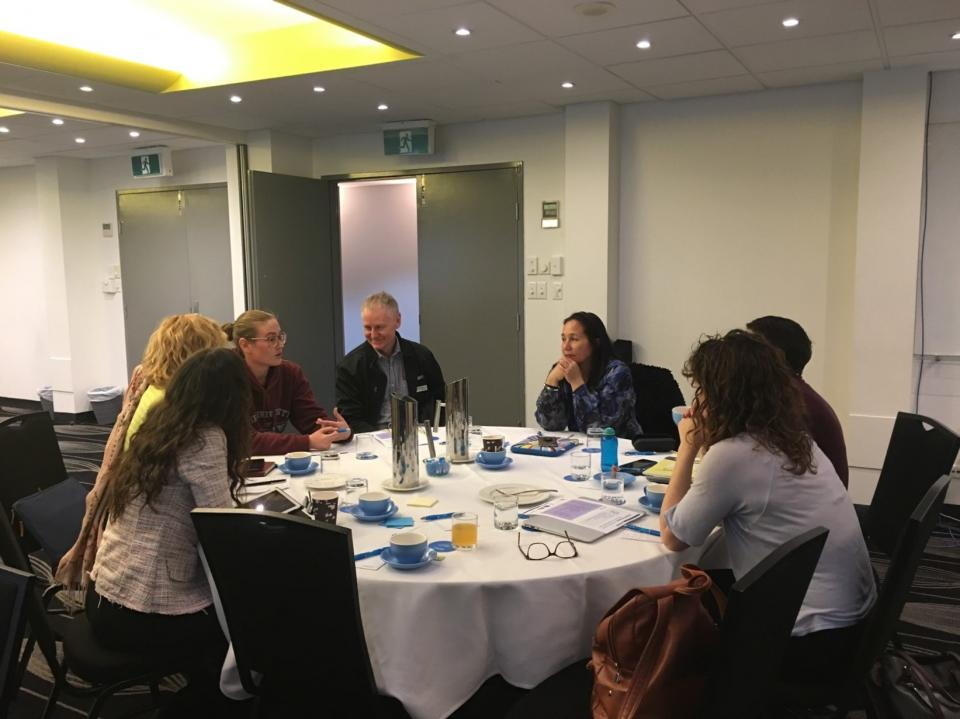 A pre-conference workshop for the AustralasianNatural Hazards Management Conference in Canberra earlier this year. Photo: Lisa Gibbs.