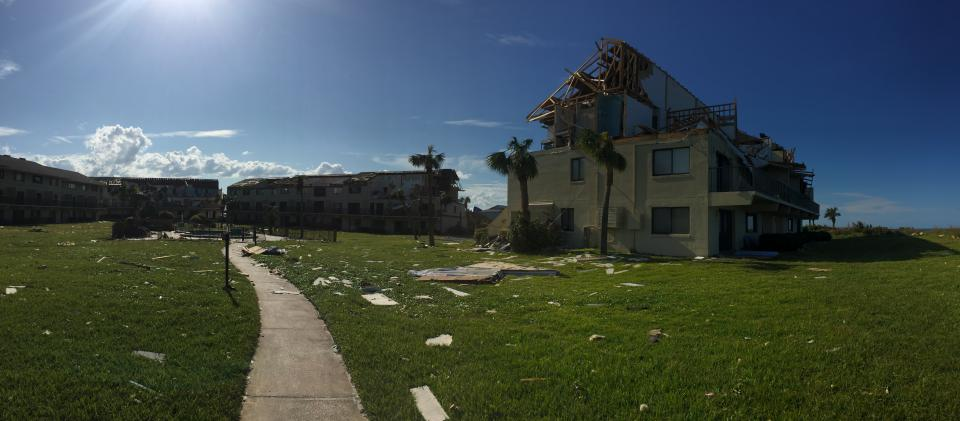 Damage from Hurricane Irma in September 2017. Photo: Daniel Smith